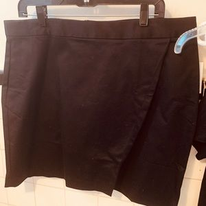 Wrap skirt blk 16 cotton sateen nwt fall fave